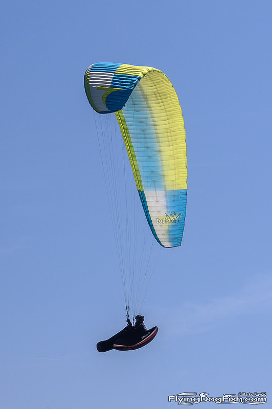 Paraglider from the side